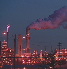 The Syncrude oilsands plant, 40 kilometres north of Fort McMurray, is one of Alberta's booming oilsands operations.